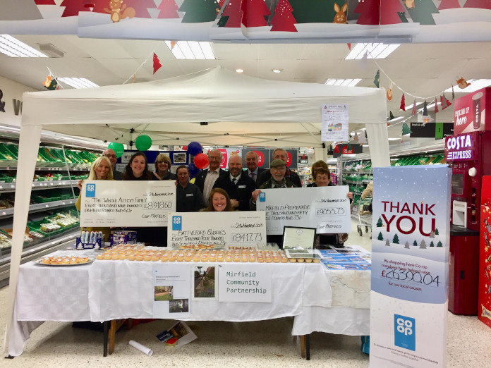 photo of fundraising effort with the Cooperative